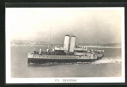 AK P.S. Devonia Fährt Küste Entlang, Passagierschiff - Piroscafi