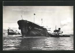 AK Handelsschiff Esso Dublin Mit Beiboot - Commerce