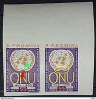 Errors Romania 1961, MI 2039B, O.N.U. With Error,, Mnh - Variedades Y Curiosidades