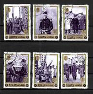 AJMAN 1972 GENERAL DE GAULLE  YVERT N° OBLITERE - De Gaulle (Generaal)