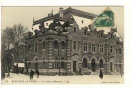 Carte Postale Ancienne Albi - Sous La Neige. La Caisse D'Epargne - Banque - Albi