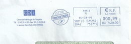 Ema Neopost HU _ Avenue René Coty - Président De La République - Enveloppe Entière - Postmark Collection (Covers)