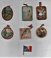 Insigne épinglette Journée Nationale Des Tuberculeux Anciens Militaires Chambrelent Faivre Guerre 1914-1917 (7 épingl. - 1914-18