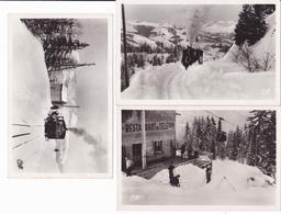 SAINT GERVAIS LES BAINS - LOT DE 6 CARTES  (LE TRAIN-LE TELEFERIQUE-LE CHASSE NEIGE.....) - Saint-Gervais-les-Bains