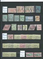 Lot De Timbres Fiscaux Anciens Sur 5 Pages. Divers Pays. - Colecciones (en álbumes)