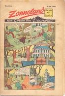 Tijdschrift Weekblad Magazine Voor De Jeugd - Strips - Zonneland - 4 Januari 1948 - Livres, BD, Revues