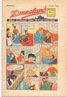 Tijdschrift Weekblad Magazine Voor De Jeugd - Strips - Zonneland - 25 Januari 1948 - Livres, BD, Revues
