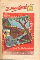 Tijdschrift Weekblad Magazine Voor De Jeugd - Strips - Zonneland - 8 Februari 1948 - Livres, BD, Revues