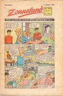 Tijdschrift Weekblad Magazine Voor De Jeugd - Strips - Zonneland - 14 Februari 1948 - Livres, BD, Revues
