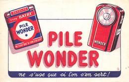 VP-GF.19-RO 110 : BUVARD.  PILE WONDER - Buvards, Protège-cahiers Illustrés