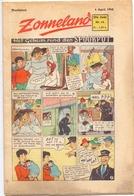 Tijdschrift Weekblad Magazine Voor De Jeugd - Strips - Zonneland - 4 April 1948 - Livres, BD, Revues