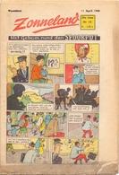 Tijdschrift Weekblad Magazine Voor De Jeugd - Strips - Zonneland - 11 April 1948 - Juniors