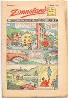 Tijdschrift Weekblad Magazine Voor De Jeugd - Strips - Zonneland - 18 April 1948 - Livres, BD, Revues