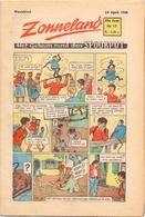 Tijdschrift Weekblad Magazine Voor De Jeugd - Strips - Zonneland - 25 April 1948 - Livres, BD, Revues