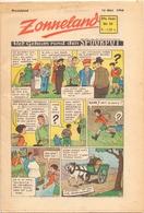Tijdschrift Weekblad Magazine Voor De Jeugd - Strips - Zonneland - 16 Mei 1948 - Livres, BD, Revues