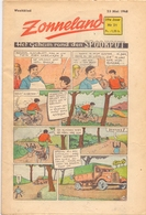 Tijdschrift Weekblad Magazine Voor De Jeugd - Strips - Zonneland - 23 Mei 1948 - Livres, BD, Revues