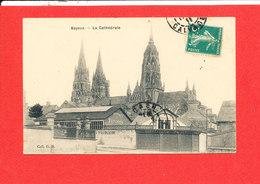 14 BAYEUX Cpa Fabrique De Voitures Et Cathédrale       Coll G B - Bayeux