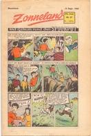 Tijdschrift Weekblad Magazine Voor De Jeugd - Strips - Zonneland - 5 September 1948 - Livres, BD, Revues
