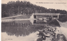 Chatillon Sur Loire Les Bords Du Canal (pêcheurs) - Chatillon Sur Loire