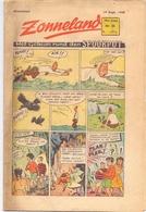 Tijdschrift Weekblad Magazine Voor De Jeugd - Strips - Zonneland - 19 September 1948 - Livres, BD, Revues