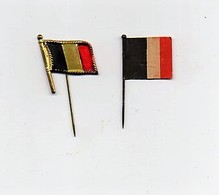 Insigne épinglette Drapeau Belge Belgique (1 Insigne En Métal, 1 En Papier) - 1914-18