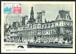 "Y/T N° 1176 S/ CM - Jumelage Paris-Rome - Oblit. ""PREMIER JOUR - PARIS - JUMELAGE PARIS-ROME - II OCT. 1958"". - 1950-59"