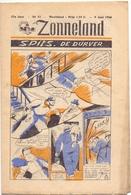 Tijdschrift Weekblad Magazine Voor De Jeugd - Strips - Zonneland - 9 Juni 1946 - Livres, BD, Revues