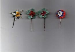 Insigne épinglette Genre Celluloid Fleur (4 Insignes) - 1914-18
