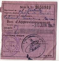 (guerre 39-45) Restrictions Rationnement :bon Pour 2kg De Lait En Poudre  1947 (PPP21234) - Vieux Papiers
