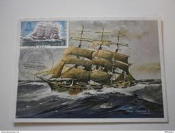 Le Cap Hornier Antoinette, Quatre Mats Barque De La Compagnie Bordes. Peintre De Marine Roger Chapelet (GF860) - Sailing Vessels