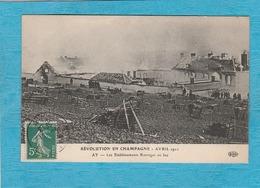 Aÿ-en-Champagne. - Les Établissements Bissinger En Feu. - Révolution En Champagne - Avril 1911. - Ay En Champagne