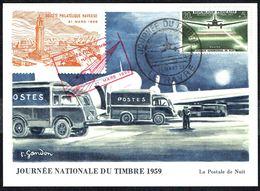 """Y/T N° 1196 S/ CM - Journée Du Timbre - Oblit. """"JOURNEE DU TIMBRE - LE HAVRE - 21 MARS 59"""". - Maximumkarten"""