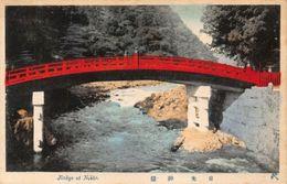 Japan Jinkyo At Nikko River Bridge Postcard - Japon