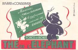 VP-GF.19-RO 141 : BUVARD. THE DE L'ELEPHANT. - Buvards, Protège-cahiers Illustrés