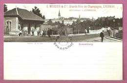 Cpa Luxembourg Entrée De La Ville - Pub Champagne Mercier & Cie Epernay Succursale à Luxembourg - Lussemburgo - Città