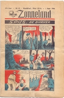 Tijdschrift Weekblad Magazine Voor De Jeugd - Strips - Zonneland - 1 September 1946 - Livres, BD, Revues
