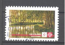 France Autoadhésif Oblitéré (Ensemble Sauvons Notre Patrimoine : Canal Du Midi) (cachet Rond) - Francia