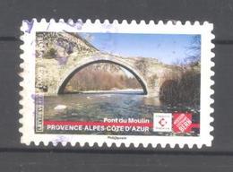 France Autoadhésif Oblitéré (Ensemble Sauvons Notre Patrimoine : Pont Du Moulin) (cachet Rond) - Francia