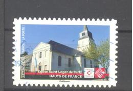 France Autoadhésif Oblitéré (Ensemble Sauvons Notre Patrimoine : Eglise St Léger De Barly) (cachet Rond) - Francia