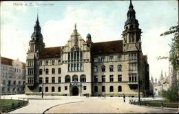 Cp Halle An Der Saale, Zivilgericht, Frontansicht, Zieher - Germany