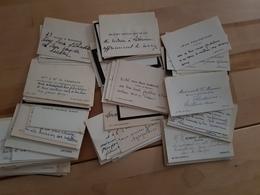 Important Lot De Cartes De Visites (plus De 100 Cartes) - Cartes De Visite