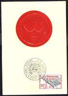 """Y/T N° 1220 S/ CM (2) - Donneurs De Sang - Oblit. """"SANG DONNE VIE SAUVEE - S.O.S. SANG - PARIS - 17 OCT. 59"""". - 1950-59"""
