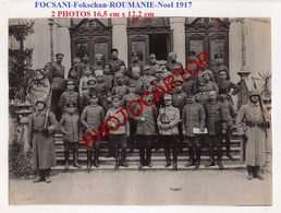 FOCSANI-Fokschan-NOEL 1917-Fete Des Officiers-2 Grosses PHOTOS Allemandes-Guerre14-18-1WK-Militaria- - Rumania