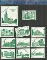 TEGELEN GEBOUWENSERIE  ( GROEN ) Dutch Matchbox Labels The Netherlands - Boites D'allumettes - Etiquettes