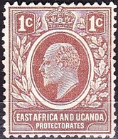 EAST AFRICA & UGANDA 1907 KEDVII 1a Brown SG34 MH - Protectorados De África Oriental Y Uganda