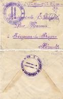 GUERRE 14-18 7e Bon De Chasseurs Alpins 1ere Cie SP 184 - COMPAGNIE DE PRISONNIERS DE GUERRE N° 959 De 7-1919 - Marcophilie (Lettres)