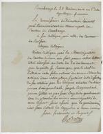 Ronchamp An 5 - 19.10.1796 Lettre En Franchise Sujet: Alelier Des Armes Blanches - 1701-1800: Precursori XVIII