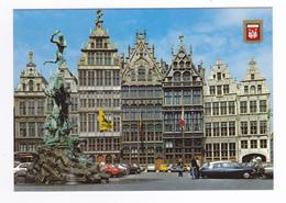 Anvers ANTWERPEN Grand Place Brabo Maisons Corporatives En 1983 Citroën DS VW Käfer Opel Saab Américaine Mercedes - Antwerpen