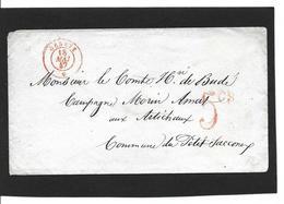 GENEVE  18.5.1847  Taxe  5cs Grand Chiffre - ...-1845 Prefilatelia