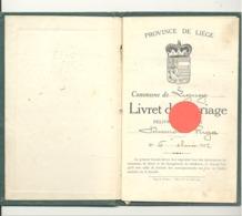 LIGNEY - Livret De Mariage 1922  - Waremme, Hannut (b271) - Historical Documents